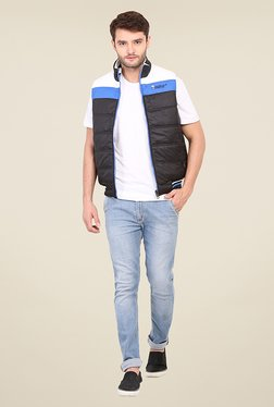 Duke Stardust Black & White Quilted Reversible Jacket