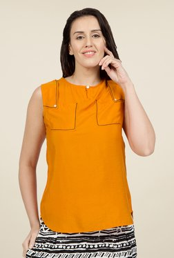 Desi Belle Orange Solid Tunic