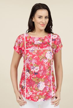 Desi Belle Coral Floral Print Tunic