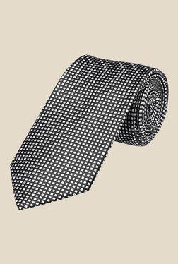 Park Avenue Black Block Printed Tie