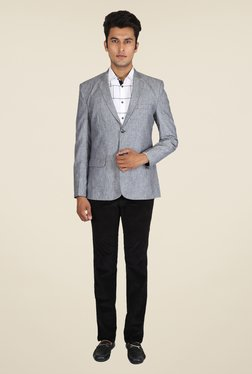 Easies Grey Textured Blazer