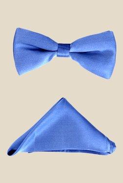 Park Avenue Light Blue Silk Bow Tie With Pocket Square