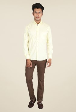 Easies Khaki Solid Chinos