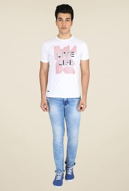 Easies White Graphic Print T Shirt
