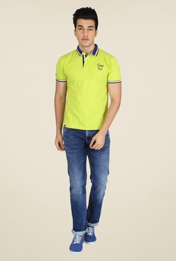 Easies Lime Solid Polo T Shirt