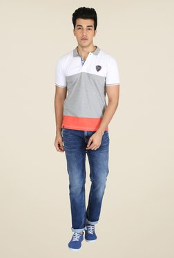 Easies Grey Solid Polo T Shirt