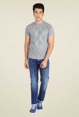 Easies Grey Graphic Print T Shirt