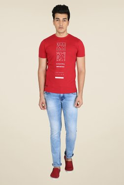 Easies Red Graphic Print T Shirt