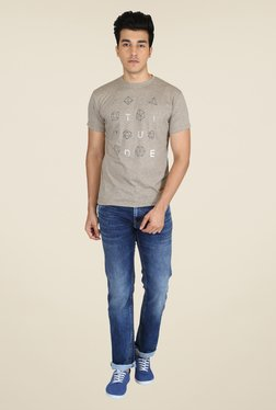 Easies Brown Graphic Print T Shirt