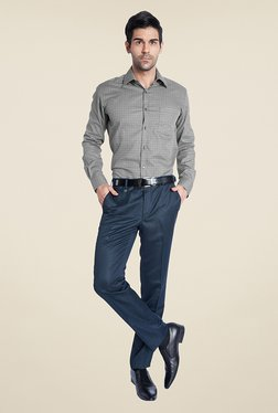 Park Avenue Grey Checks Shirt