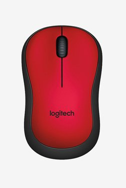 Logitech M221 Silent Wireless Mouse (Red)