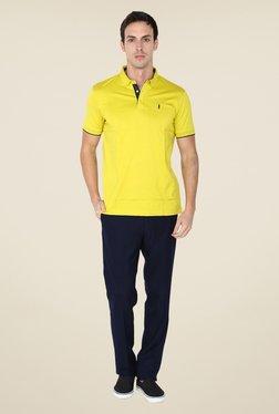 Arrow New York Yellow Solid Polo T Shirt