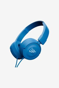 JBL T450 On the Ear Headphone with Microphone  Blue  JBL Electronics TATA CLIQ
