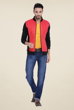 Campus Sutra Red Quilted Jacket