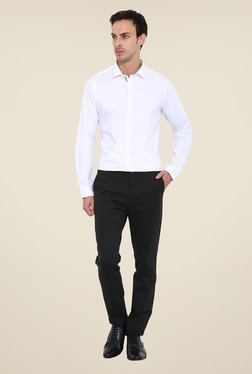 Arrow New York White Textured Shirt