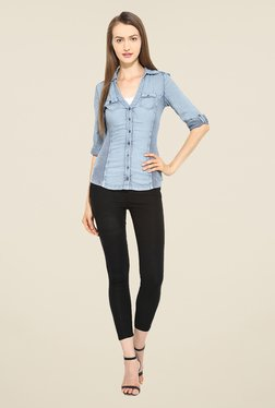 Free & Young Blue Solid Shirt - Mp000000000713704