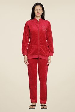Sweet Dreams Red Solid Tracksuits