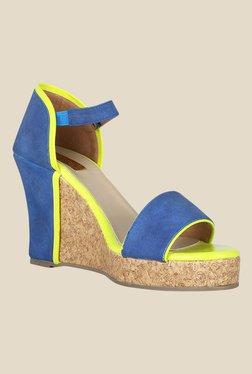 Zaera Stella Blue & Green Ankle Strap Wedges