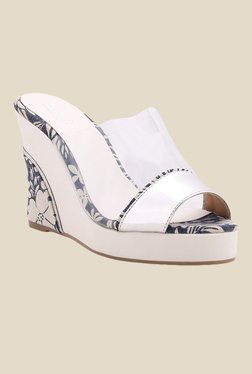 Zaera Clear Up White & Silver Wedges