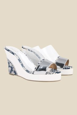 Zaera Clear Up Silver & White Wedges