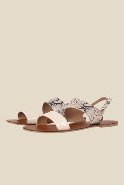 Zaera Flat Out Adorables Nude Back Strap Sandals