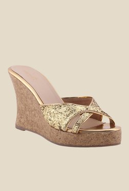 Zaera My Fav Party Golden Wedges
