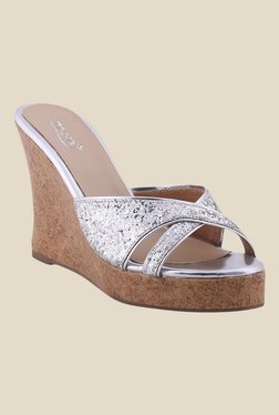 Zaera My Fav Party Silver Wedges