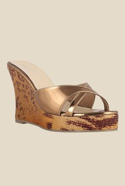 Zaera My Fav Party Antique Golden Wedges