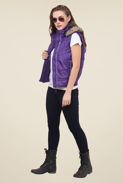 Duke Stardust Purple Quilted Jacket - Mp000000000717403