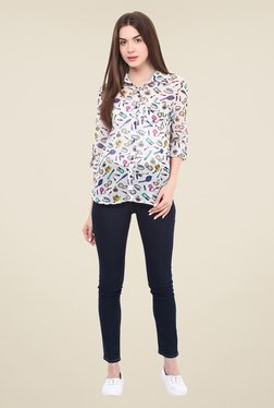 Free & Young Multicolor Printed Shirt