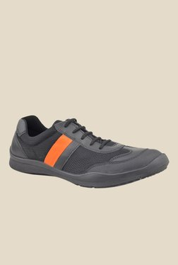 FeetScience Champion Orange & Black Casual Shoes