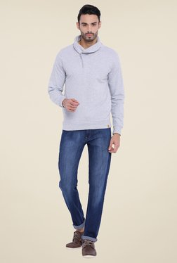 Campus Sutra Grey Solid Sweatshirt - Mp000000000719130