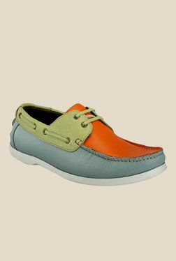 Hats Off Accessories Orange & Green Boat Shoes