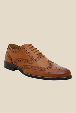 Hats Off Accessories Tan Brogue Shoes