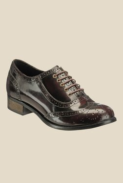 Hats Off Accessories Burgundy Brogue Shoes