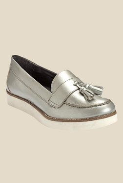 Hats Off Accessories Silver Casual Moccasins