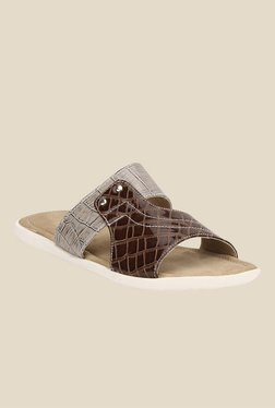 Yepme Brown & Cream Casual Sandals