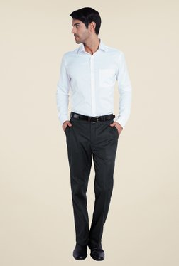 Park Avenue Blue Textured Trouser