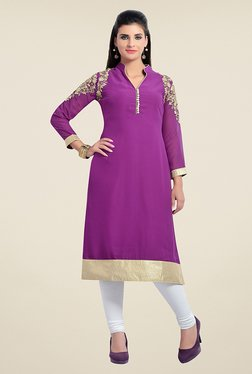 Zola Purple Embroidered Kurta