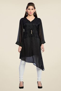 Zola Black Embroidered Kurta - Mp000000000723338