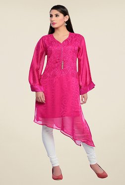 Zola Pink Embroidered Kurta