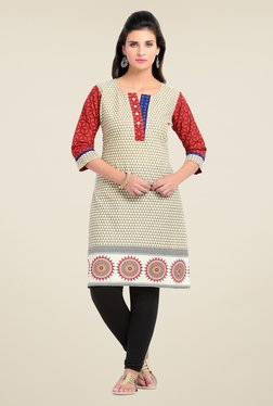 Zola Beige Printed Kurta - Mp000000000724334