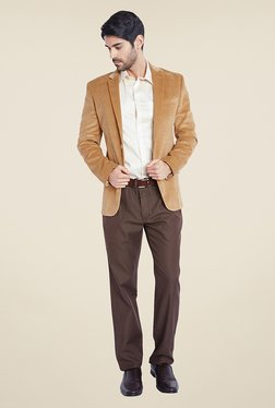 Park Avenue Beige Solid Jacket