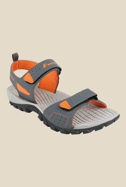 2410e1d13954e0 Fsports Sailor Grey   Orange Floater Sandals
