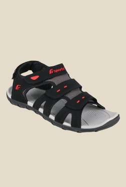 9c3dba20ebc4a5 Fsports Cannon Black Floater Sandals