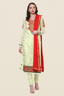 Yepme Ebele Cream Semi Stitched Suit