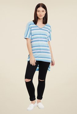 Yepme Tiffany Blue Striped Top
