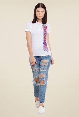 Yepme Ettie White Printed T Shirt