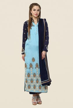 Yepme Azra Blue Semi Stitched Pakistani Suit
