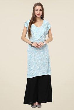 Yepme Aline Frill Blue Printed Tunic